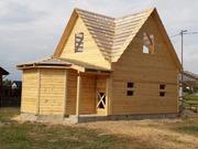 Дома из бруса Настя 6×8 установка в Дятловском р-не