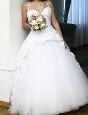 Свадебное платье,  размер 44-48,  рост 164-174+подарок