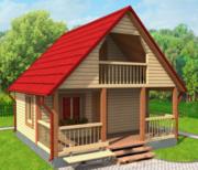Дом-Баня Заря из бруса 6х6 с установкой по РБ