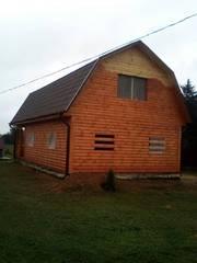 Дом сруб из бруса 9 на 7 Владимир доставка/установка .