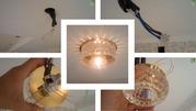 Установка люстр,  светильников,  бра