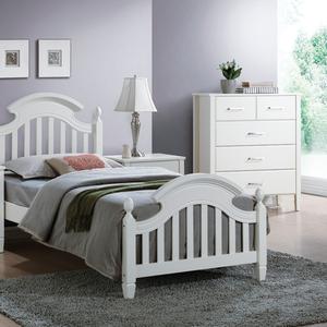 Кровать LIZBONA 90*200 (белый),  с основанием