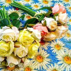 Букет невесты дублер подменка в кремовом,  белом и розовом цвете