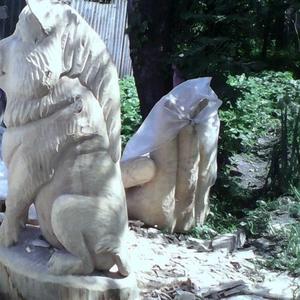 Создаем скульптуры из дерева
