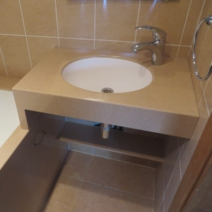 Столешница из камня № 1 для ванной на заказ