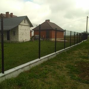 Забор 3д в Бресте, еврозабор 1740х2500,  цинк+ полимер