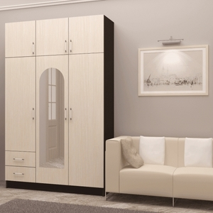 Шкаф 3-створчатый с антресолью(1.3м.)