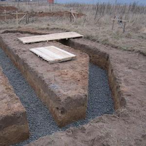 Копка траншеи ленточного фундамента в Минске и Минской области