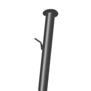 Столбы металлические , профильного и круглого сечения